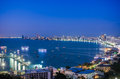 Pattaya city and sea in twilight thailand Royalty Free Stock Images