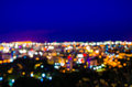 Pattaya cityscape at twilight time blurred photo bokeh Stock Photo