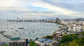 Pattaya pacific viewing platform from here overlooking bay and the beach at the foot of the tourist pier the scenery is Royalty Free Stock Photos