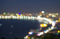 Pattaya seascape at twilight time, Blurred Photo bokeh Royalty Free Stock Photo