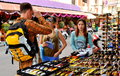 Pattaya, Thailand: Couple Shopping for Sunglasses Stock Photo