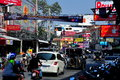 Pattaya, Thailand: Traffic and Signs on Second Road Stock Images