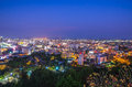 Pattaya twilight ctiy thailand Royalty Free Stock Photography