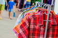 Patter of thai native cloth inmarket Royalty Free Stock Images