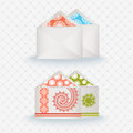 Patterened envelopes elegant invitations patterens and elements Stock Image