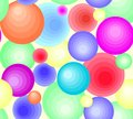 A pattern of abstract balls of different colors. For fabric, paper, background.