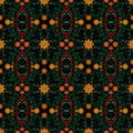 Pattern Abstract Red Flower Ye...