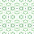Pattern with arabic motifs in cool mint green vector seamless texture background for web print home decor textile fabric wedding Royalty Free Stock Images