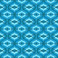 Pattern with arabic motifs in shades of blue vector seamless texture background for web print home decor textile fabric wedding Royalty Free Stock Photos