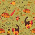 The pattern for the autumn holidays halloween day thanksgiving harvest seamless Stock Photography
