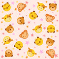 Pattern with baby animals Stock Images