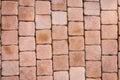 Pattern background of brick block walkway Royalty Free Stock Photo