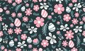 Pattern background Easter egg design, with leaf and floral concept