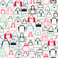 Pattern of Bags Silhouettes  in a variety of shapes Royalty Free Stock Photo