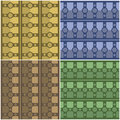 Pattern bar and cross various seamless backgrounds patterns Stock Photography