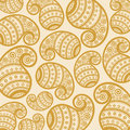 Pattern based on traditional asian elements paisle illustration of paisley Royalty Free Stock Photo