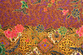 Pattern and batik textile old style background with fabric Royalty Free Stock Photography