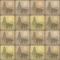 Pattern bear seamless background featuring a scene Stock Photos