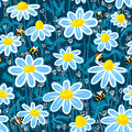 Pattern with bee Stock Images