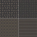 Pattern black with ellipse various seamless patterns backgrounds Stock Photography