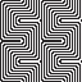 Pattern in black and white optical illusion Royalty Free Stock Image