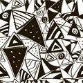 The pattern of black and white triangles on a background for background fabrics geometric within triangles strips spiral Royalty Free Stock Photos