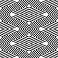 Pattern black and white zigzag Stock Image