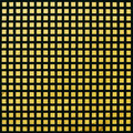Pattern of black-yellow grate on a wall surface. Stock Images