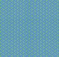 Pattern blue rhombus green triangle geometry