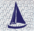 Pattern with a boat Stock Images