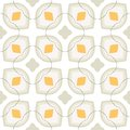 Pattern with bold stylized flowers in s style floral geometric seamless vector white and leaves texture background for web print Stock Image