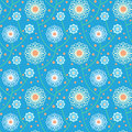 Pattern with bold and stylized flowers simple floral ornamented seamless texture background for web print decor textile wrapping Stock Image