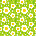 Pattern with bold and stylized flowers simple floral ornamented seamless texture background for web print home decor textile Stock Photos