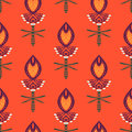 Pattern with bold stylized indian motifs floral seamless vector ornamental paisley and flowers texture background for web print Royalty Free Stock Photos
