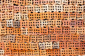 Pattern of brick wall orange Stock Image