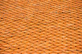 Pattern of brown ceramic roof Royalty Free Stock Images