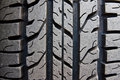 Pattern of car tire Royalty Free Stock Photo