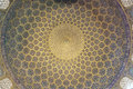 Pattern of ceiling in Sheikh Lotf Allah Mosque Stock Photos