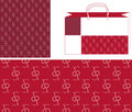 Pattern cherry together bag_2 Royalty Free Stock Photography
