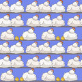 Pattern with chickens and hens cartoon seamless Stock Images