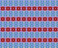 Pattern for christmas supports red present geometries on blue background Royalty Free Stock Images