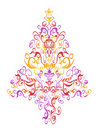 Pattern christmas tree Stock Photo