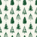 Pattern of christmas trees vector the various hand drawn Stock Images