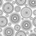 Pattern circles dots black white with Stock Photo