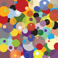 Pattern circles multicolored joyful accumulation in multiple colors Royalty Free Stock Photo