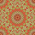 Pattern with circles of red and green