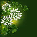 Pattern with clover Stock Image