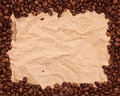 Pattern with coffee Stock Photography
