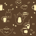 Pattern in coffee and breakfast theme Royalty Free Stock Photos