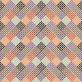 Pattern with colored line in squares Stock Photography